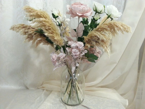 Dried Pampas Bouquet Dried Flowers Dried Flowers Etsy