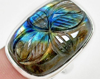 5.98cts Natural Blue Kyanite 925 Sterling Silver Ring Jewelry Size 7.5 Handmade By JaipurShopCo
