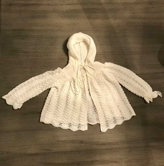 Vintage 1950s Knit Baby Sweater.