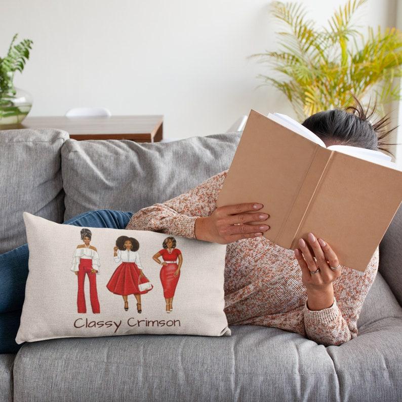 Crimson Love Cozy Pillow