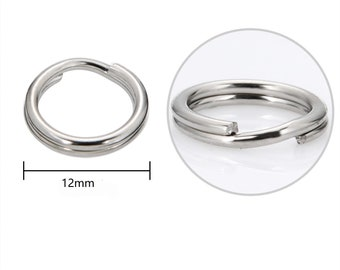 304 Stainless Steel Split Rings Silver Round 0.6 x 8mm Pack Of 110+