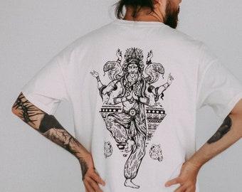 Shiva Oversize Unisex T-shirt Mystic Pagan Heathen  Perfect Gift Gothic Themed Ethnic Graphic
