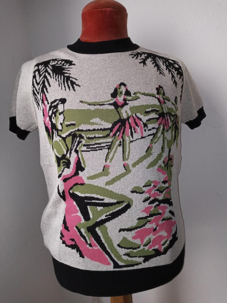 1950s Men's Clothing 1940s vintage men M/L/XL Repro sweater knitted high Waist Aloha short sleeve knitwear Rockabilly Pullover 1940er jerséis Medium Large XLarge $79.96 AT vintagedancer.com