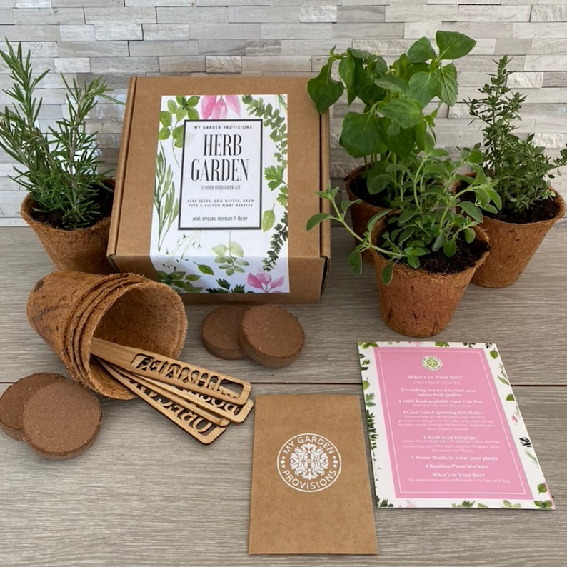Kitchen Herb Garden Kit Grow you own Culinary Herbs-Mint image 0