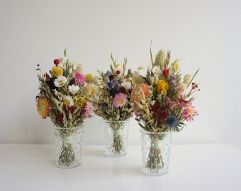 Series ALL COLORS, table bouquets, set or individually, dried flowers, Dried flowers