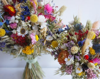 Series ALL COLORS, bridal bouquet dried flowers, Dried flowers