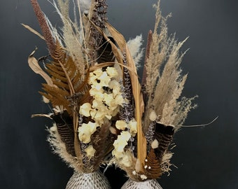Series YOUR BEAUTIFUL HOME, dried flower bouquet incl. vase,Dried flower bouquet with vase