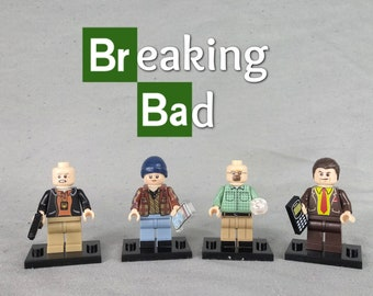 Custom Breaking Bad Walter /& Jesse Minifigures with lab Made using LEGO parts.