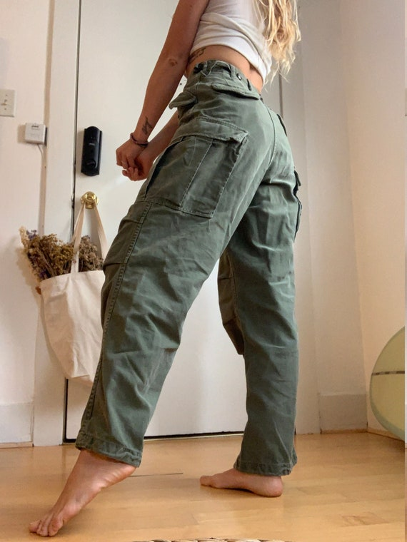 High Rise Vintage Army Pants - Size 26