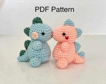 PDF pattern   Easy Crochet Amigurumi Pattern (Printable)   Stuffed Animal Dinosaur   Mini, the dino