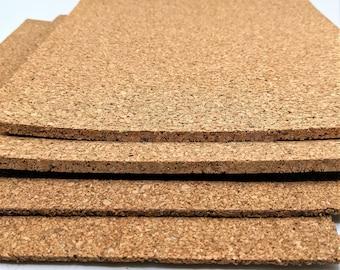"NATURAL CORK PANELS for Foot Beds, Wedges or Platforms / Shoe Repair / Shoe Making / 9 x 12"""