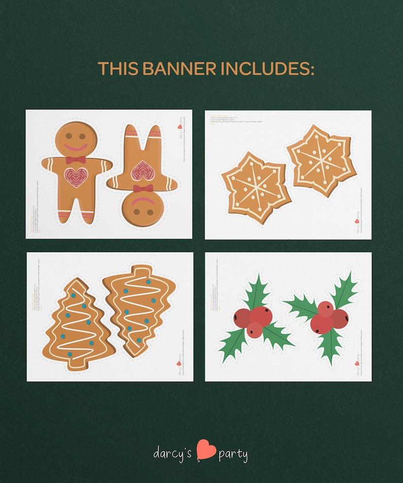 Xmas Printable Christmas Prints Christmas Decoration Gingerbread Man Banner PDF file Christmas Banner Gingerbread Man Bunting Garland