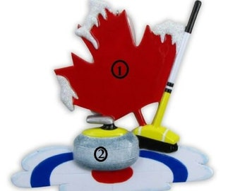 Curling Ornament Etsy