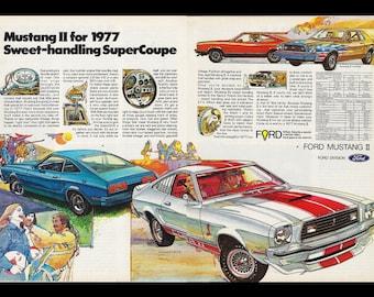 1978 Ford Mustang II Cobra Ghia Mach II 2+2 King Cobra Vintage Sales Brochure