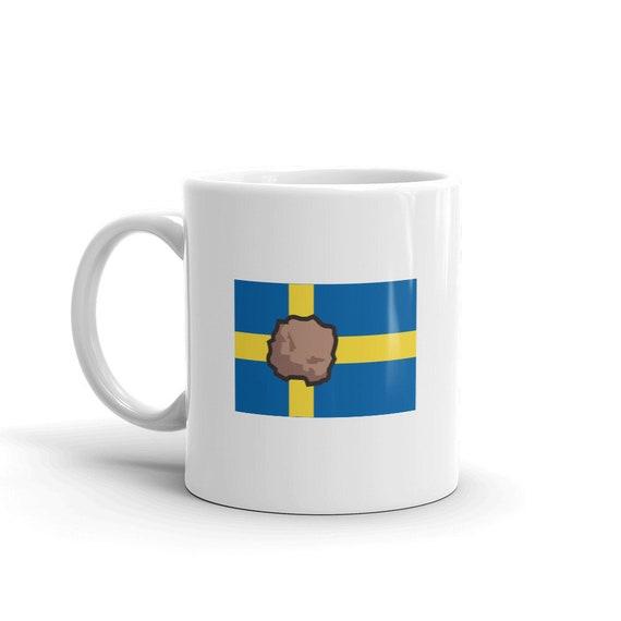 Funny Swedish Mug Swedish Flag Meatball Gift For Swedish Etsy