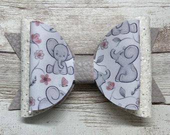 animal hair bow toddler hair bow girls hair bow Elephant hair bow