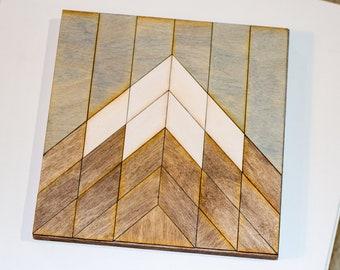 DIY Wood Mountain Decor - 1 Peak