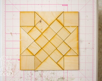 DIY Wood Barn Quilt Decor Woven Star Quilt Pattern