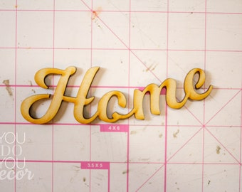 """Wood """"Home"""" Text Craft Supply"""