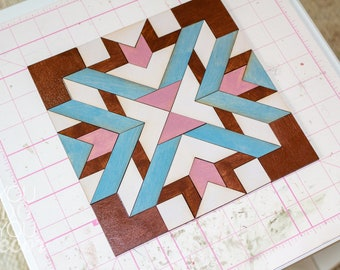 DIY Wood Quilt Double Herringbone Farmhouse Decor