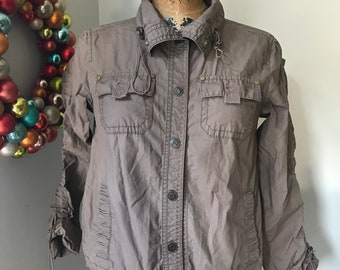 All these items are worn- gently or roughly Can be ironed for crisp EXPLORER EDITION- Flax brown shift with flower see pics for condition