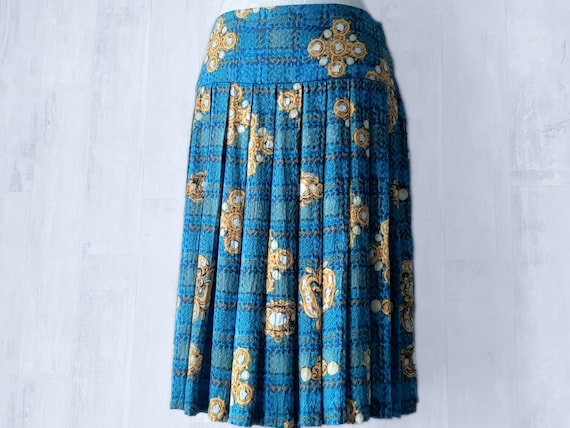 Stunning Pleated Designer Skirt, Silk Designer Ski