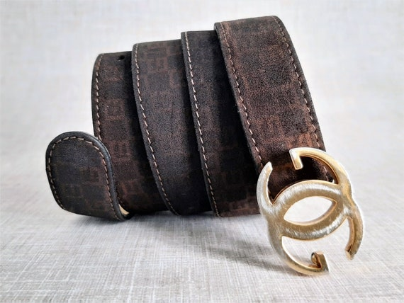 Suede Gucci Belt, Brown Suede Gucci Belt