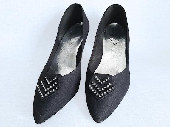 1980s Stiletto Shoes, St Michael Stiletto Shoes, P