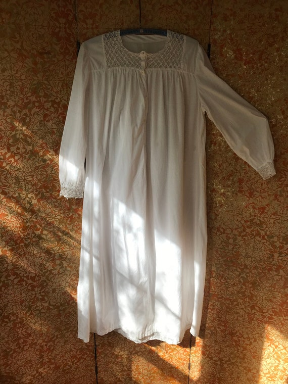Large Antique Nightgown Large Cotton Nightgown Vi… - image 2