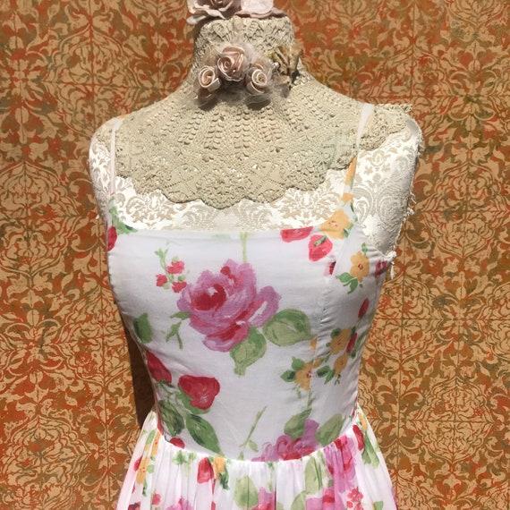 90s Vintage Laura Ashley Dress S Strawberry Rose … - image 4