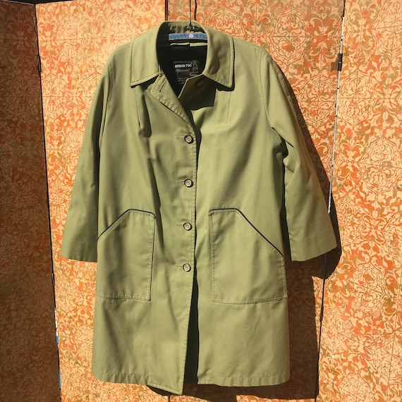 60s Vintage Coat 1960s London Fog Raincoat Large C
