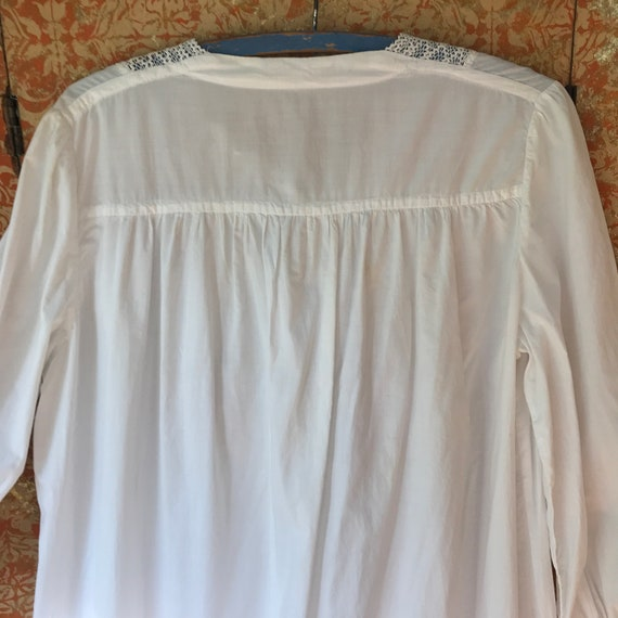 Large Antique Nightgown Large Cotton Nightgown Vi… - image 8