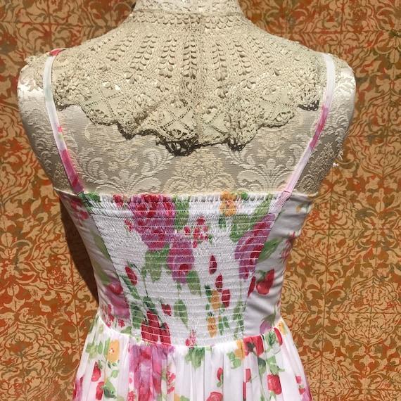 90s Vintage Laura Ashley Dress S Strawberry Rose … - image 5