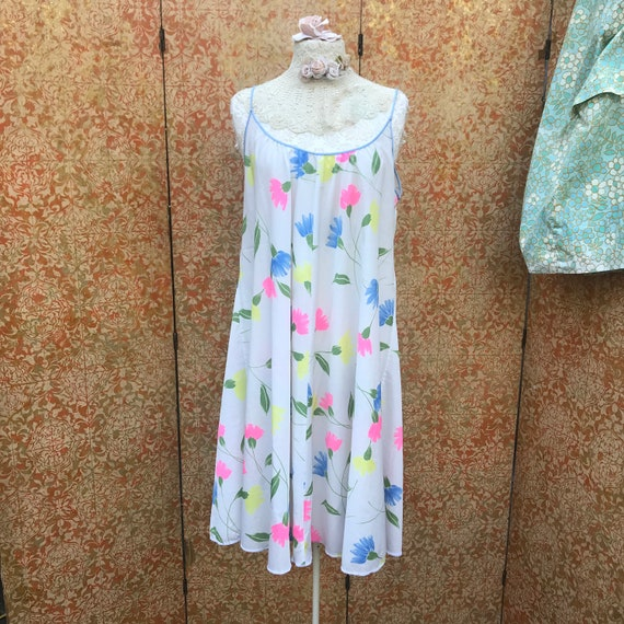 70s Vintage Lucie Ann Nightgown Claire Sandra Luc… - image 5