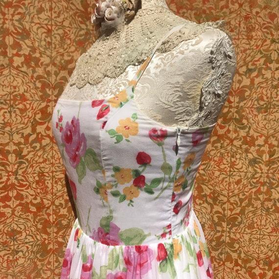 90s Vintage Laura Ashley Dress S Strawberry Rose … - image 6