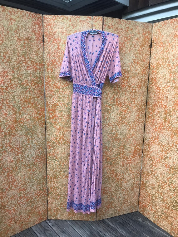70s Vintage Wrap Dress Armonia Made in Italy Vinta
