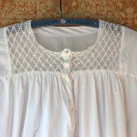 Large Antique Nightgown Large Cotton Nightgown Vi… - image 1