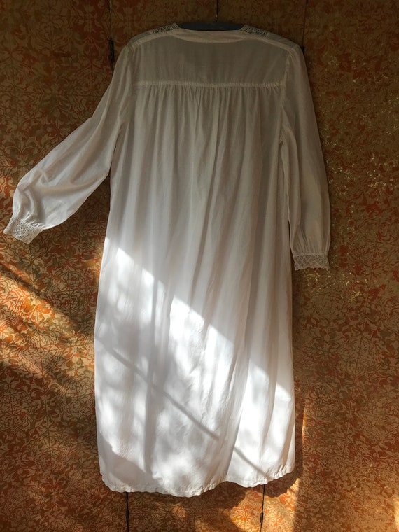 Large Antique Nightgown Large Cotton Nightgown Vi… - image 3