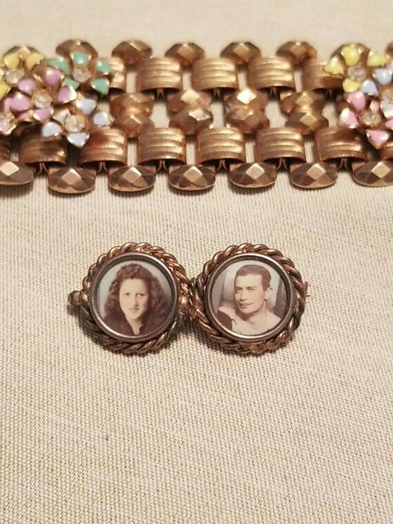 1940s Sweet Couples Brooch Pin Sweetheart Jewelry