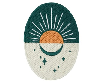 Soul of The Moon Collection: Sunrise Patch to Iron on | Moon, Sun Patches, Star Ironing, Patching, Patch for Adults
