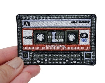 Finally Home Red 80's Cassette Patch for Ironing on | Music, Vintage, Retro, Old School Patches, Iron Patching, Patching, Patch Cassettes CD