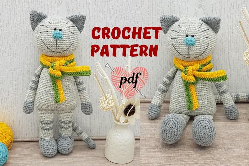 Amigurumi Crochet Pattern Cat Crochet kitty pattern Crochet image 0