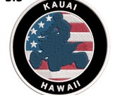 Kauai, Hawaii - Embroidered Patch 3.5 quot Iron Sew-On Applique - Seek Adventure - Wrangler 4x4 Series - Extreme Sports Mudding Challenge