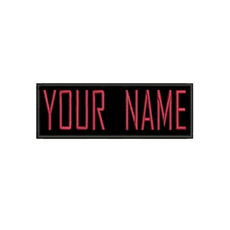 ADULT Halloween CUSTOM Name Tag Emblem Iron-On Patch Applique for Costume and Cosplay Ghostbusters Iconic Comedy Horror Movie Supernatural