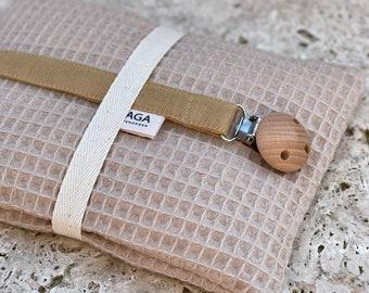 Pacifier Strap Pacifier Chain Wood Baby Gift Birth Baptism Zirbe Pine Pillow Set Cotton newborn SAGA Copenhagen
