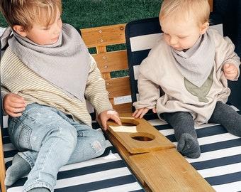 Set Sibling Cloth Muslin Muslin Scarf Leo Baby Gift Spit Cloth Newborn Triangular Cloth Button Baptism