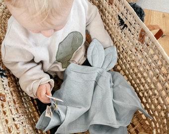 Baby Cuddly Cloth Snoppa Baby Gift Birth Toy Muslin Cloth Newborn Baptism Organic Cotton Ears