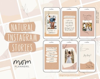 Natural INSTAGRAM ENGAGEMENT BOOSTER Stories Pack, Canva Template, Instagram Branding, Social Media Content, Lead Magnet Template