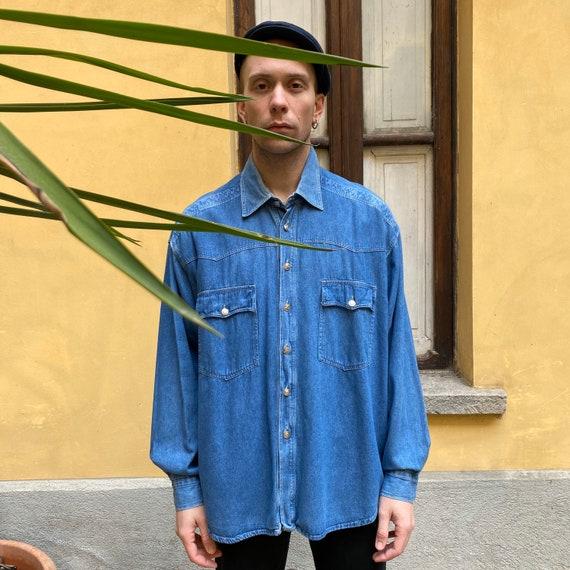 Versace denim vintage shirt