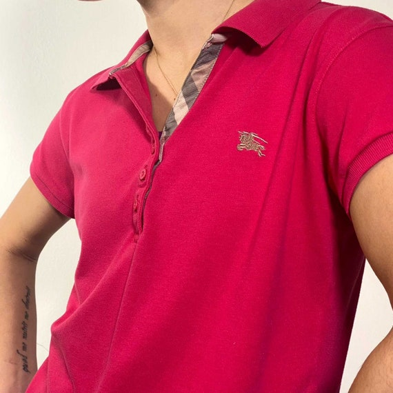 Vintage 2000s strawberry polo shirt - image 1